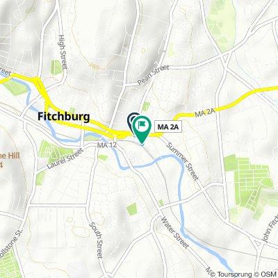 100 Main St, Fitchburg to 100 Main St, Fitchburg
