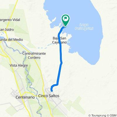 De Avenida Lago Pellegrini, General Roca a Avenida Lago Pellegrini, General Roca