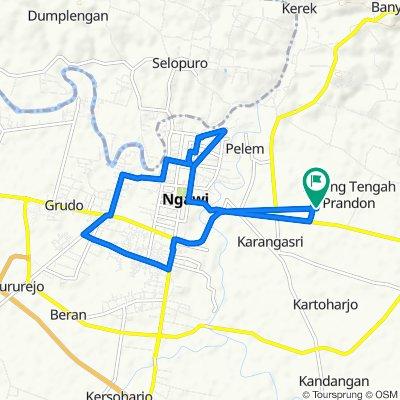 Jalan Sadewo 8, Kecamatan Ngawi to Jalan Sadewo 8, Kecamatan Ngawi