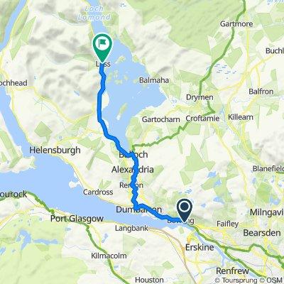 Customs House, Bowling Harbour Basin, Dumbarton Road, Glasgow to 7 Murray Pl, Alexandria