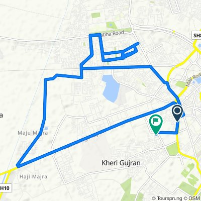 Route from Stadium Road, Patiala