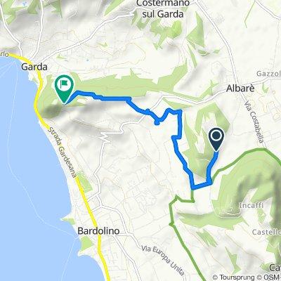 Route von Via Pertica, Costermano sul Garda