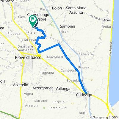 Da Via Lago di Misurina 12, Campolongo Maggiore a Via Piera 6/L, Campolongo Maggiore