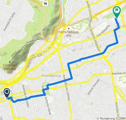 De Viollier 67, Santiago a Cerro El Plomo 5775, Las Condes