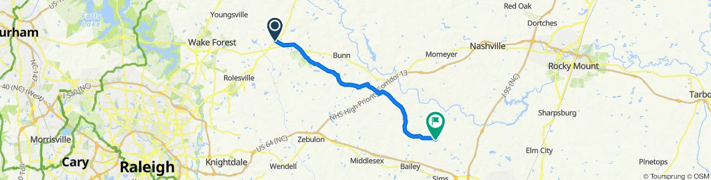 Tarboro Road 2742, Youngsville to Strickland Road 3355, Bailey