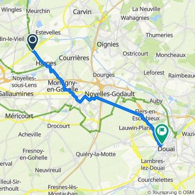 De Route de Lille 200, Annay à Boulevard Albert 1er 272, Douai