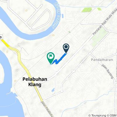 Jalan Orkid 2b 1, Pelabuhan Klang to Jalan Tengku Badar 160, Pelabuhan Klang