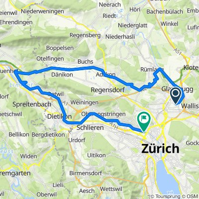 Gravel Route: Zürich Oerlikon - Zürich West