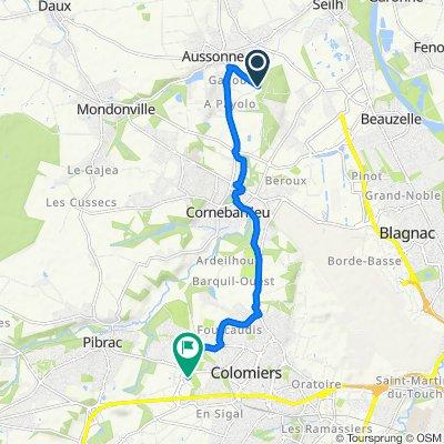 De 2–180 Chemin de Fourtanié, Aussonne à 5–11 Avenue Léon Foucault, Colomiers