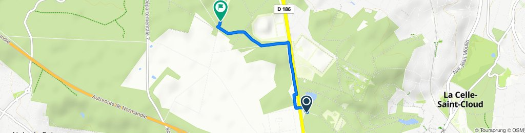 De Allée de la Grande Promenade, La Celle-Saint-Cloud à Route de Bacchus, Marly-le-Roi
