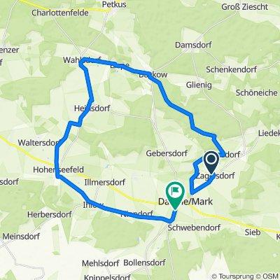 Zagelsdorf 8, Dahme/Mark nach Herzberger Chaussee 13A, Dahme/Mark