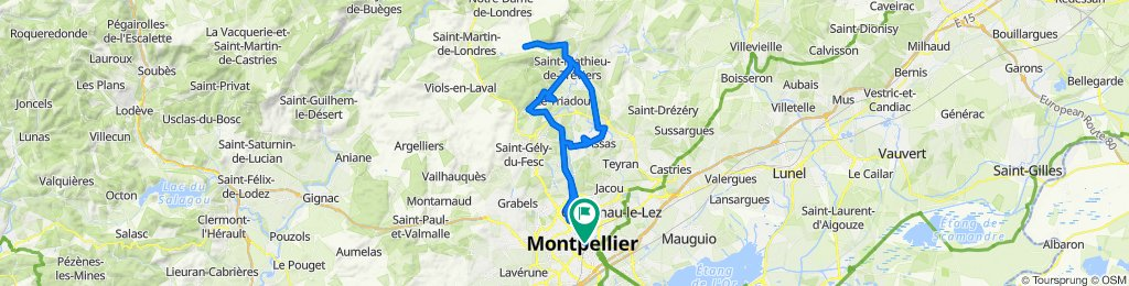 Montpellier to Hortus (Pic Saint Loup)