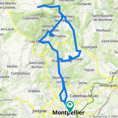Montpellier to Hortus (Pic Saint Loup)