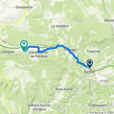 De Impasse des Paluds 25, Barjols à Chemin de Varages 4, Esparron