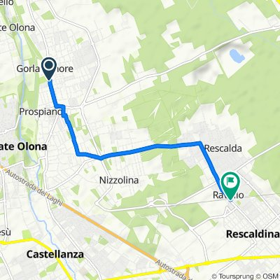 Da Via Roma 87, Gorla Minore a Via Giacomo Matteotti 124, Rescaldina