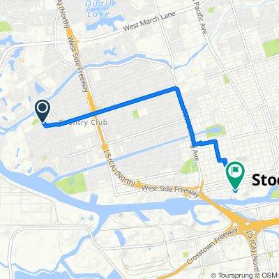 3405 W Euclid Ave, Stockton to 811 W Fremont St, Stockton