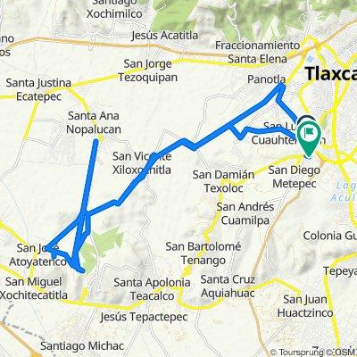 De Carretera Tlaxcala Texoloc 40, Tlaxcala de Xicohténcatl a Del Jardín 32a, Tlaxcala de Xicohténcatl