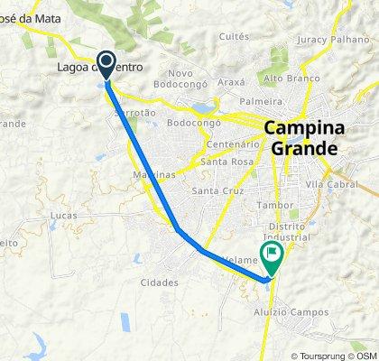 De BR-230, Campina Grande a Rua João L Ribeiro, Campina Grande