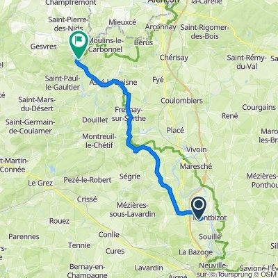 Rue du Houx 4, Sainte-Jamme-sur-Sarthe to Chemin de Compostelle 7, Saint-Léonard-des-Bois