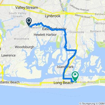 1345 Peninsula Blvd, Hewlett to 749 E Park Ave, Long Beach