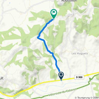 De D900, Goult à Route de Goult, Roussillon