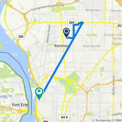 Stillwell Avenue 42, Buffalo to West Avenue 993, Buffalo