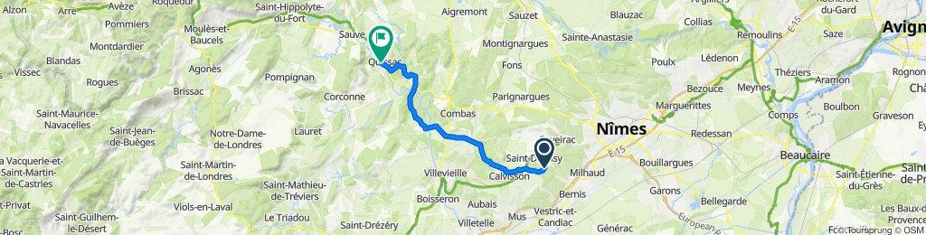 De 1240 Route de Langlade, Nages-et-Solorgues à 2–3 Rue Bourbon, Quissac