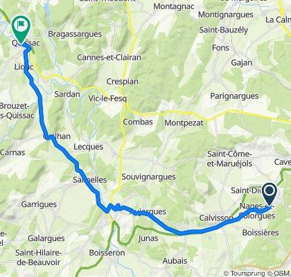 De 1225 Route de Langlade, Nages-et-Solorgues à 2–3 Rue Bourbon, Quissac