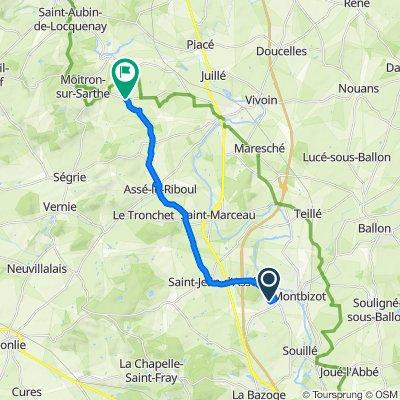 Rue du Houx 4, Sainte-Jamme-sur-Sarthe to D196, Saint-Christophe-du-Jambet