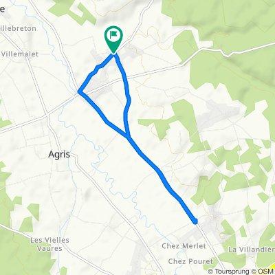 De 49 Rue de la Bellone, Agris à 413–463 Route de Saint-Claud, Agris