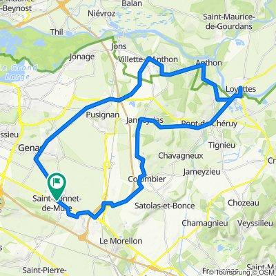 De 2 Chemin du Chanay, Saint-Bonnet-de-Mure à 2 Chemin du Chanay, Saint-Bonnet-de-Mure