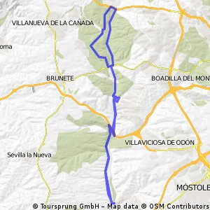 Ruta zona Parque Guadarrama