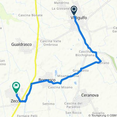 Da SP50, Vidigulfo a Via Montegrappa 67, Zeccone