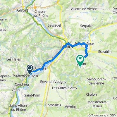 Chemin de l'Île de la Chèvre, Tupin-et-Semons to Montée de la Vieille Église 596, Jardin