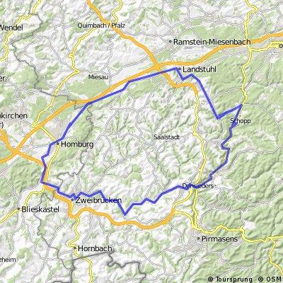 Krickenbach - Zweibrücken - Homburg - Landstuhl - Krickenbach