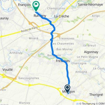 De 15–23 Route de Triou, Mougon à 115–123 Route de l'Ancienne Laiterie Ruffign, La Crèche