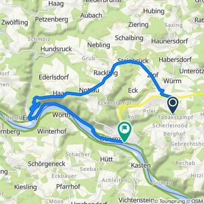 Route nach Jochensteiner Straße 5, Obernzell