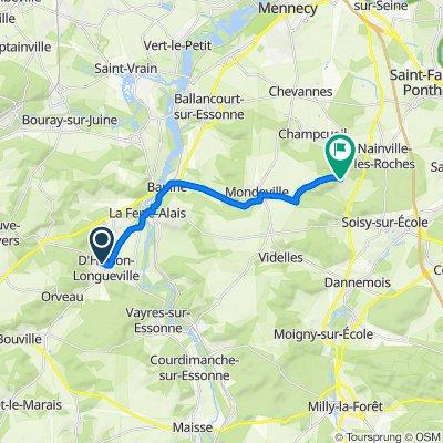 De Rue du Château 10, D'Huison-Longueville à Rue du Puits 1, Champcueil
