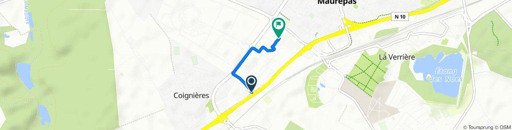 Voie Latérale Nord, Coignières to Rue des Frères Lumière, Coignières
