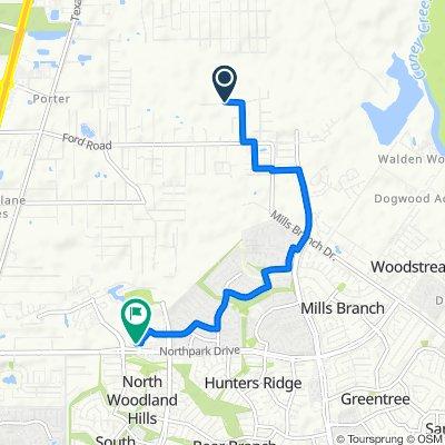 23756 Elmwood Dr, Porter to 2021 Northpark Dr, Houston