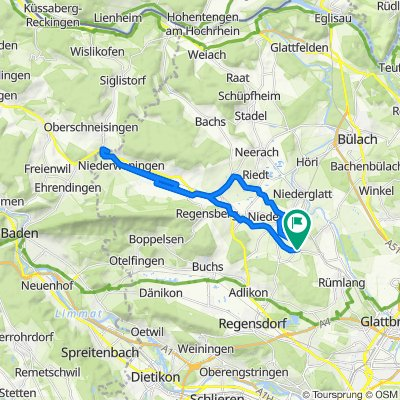 Rümlangerstrasse 15, Oberhasli nach Rümlangerstrasse 15, Oberhasli
