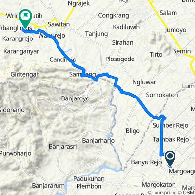 Unnamed Road, Seyegan to Jalan East Side Pedestrian Walk, Kecamatan Borobudur