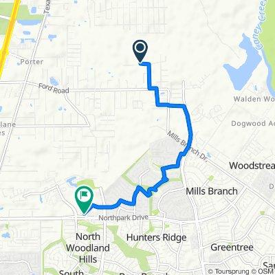 23755 Elmwood Dr, Porter to 2021 Northpark Dr, Houston
