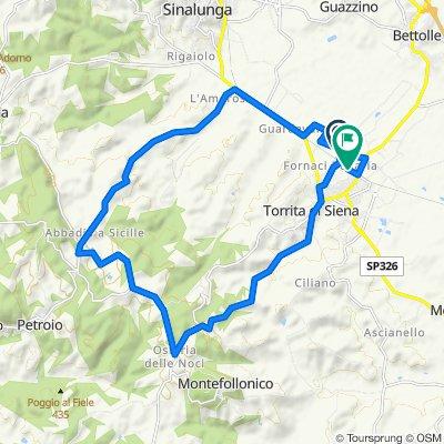 Da Località San Giuliano 162, Torrita di Siena a Via Enrico Benedetti 19, Torrita di Siena
