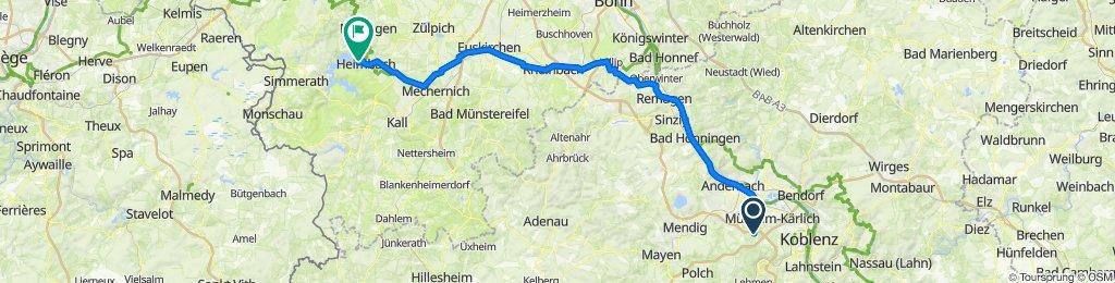 Hospitalstraße 24A, Bassenheim nach Schwammenaueler Straße 67, Heimbach