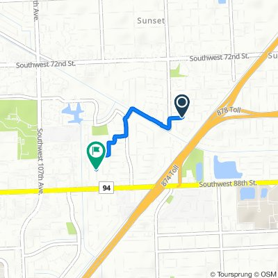 9523 SW 79th Terr, Miami to 8525 SW 102nd Pl, Miami