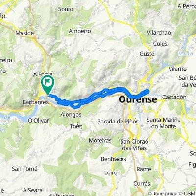 De Carretera de Logroño 35, Orense a Estrada de Vigo-Outariz 37, Ourense