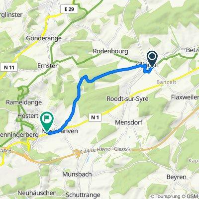 Moderate route in Niederanven
