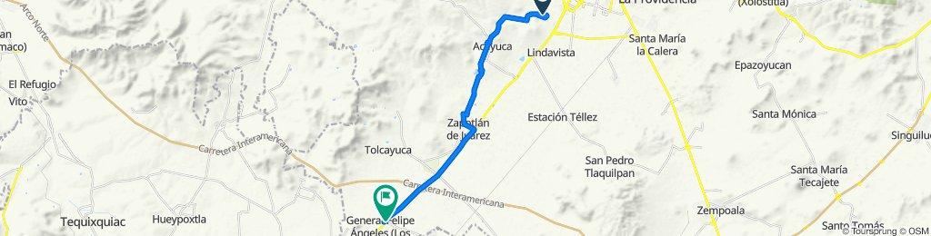 Ruta a Carretera México-Pachuca, Tolcayuca