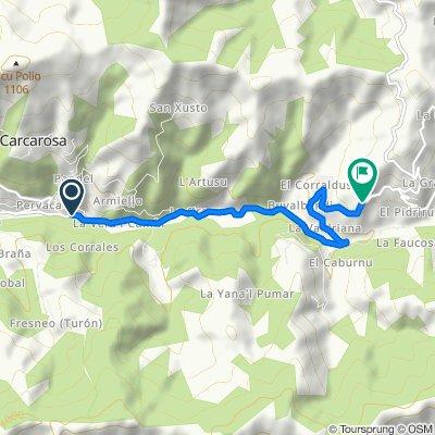Santandrés-Urbiés (700 mt. tras salida de)
